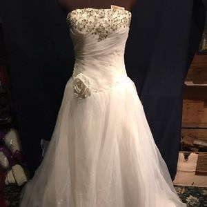 Dresses & Skirts - Brand New White Beaded Wedding Dress